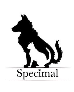 Logo Specimal.nl is dé online dierenwinkel voor hond & kat